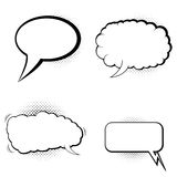 Speech bubbles with halftone shadow Royalty Free Stock Photography