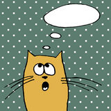 Сat with speech bubbles. Hand drawing cat with speech bubbles vector Royalty Free Stock Photography