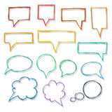 Speech bubbles. Hand-drawn design elements collection. Stock Photo
