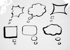 Handdraw Speech bubbles in black and white Stock Photography