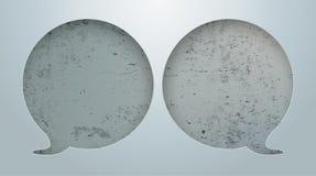 2 Speech Bubbles Hole Concrete. Speech bubbles hole on the concrete background Stock Image