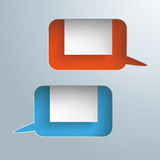 2 Speech Bubbles Holes Rectangles Royalty Free Stock Photography