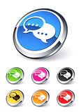 Speech bubbles icon Royalty Free Stock Photo