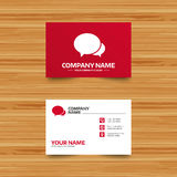 Speech bubbles icon. Chat or blogging sign. Business card template. Speech bubbles icon. Chat or blogging sign. Communication symbol. Phone, globe and pointer Stock Images