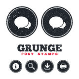 Speech bubbles icon. Chat or blogging sign. Royalty Free Stock Image