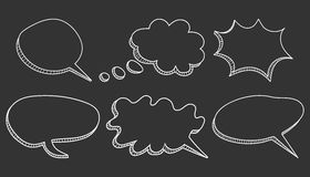 Speech bubbles icon set. Stock Photo