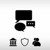 Speech bubbles  icon, vector illustration. Flat design style Royalty Free Stock Images