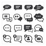Speech bubbles icon Royalty Free Stock Image