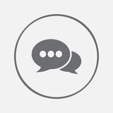 Speech bubbles icon vector, solid illustration, pictogram isolated on gray Royalty Free Stock Photos
