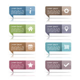 Speech Bubbles with Icons Royalty Free Stock Image