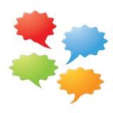 Speech bubbles icons Royalty Free Stock Photos