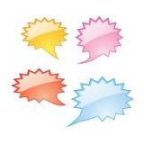 Speech bubbles icons Royalty Free Stock Photo