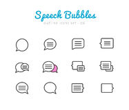 Speech bubbles icons set Royalty Free Stock Photo