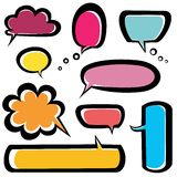 Speech bubbles icons set Royalty Free Stock Photography