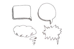 Speech bubbles icons set with place for your text.  Royalty Free Stock Photo