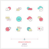 Speech bubbles icons set. Vector logo icons illustrations. Royalty Free Stock Photography