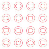 Speech bubbles icons Royalty Free Stock Image