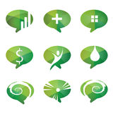 Speech bubbles icons, vector set of communication signs Royalty Free Stock Photography