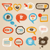 Speech Bubbles Illustration Royalty Free Stock Images