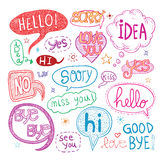 Speech bubbles,  illustration. Doodle speech bubbles,  illustration Stock Photography