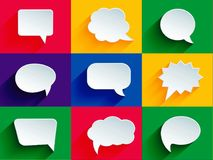 Speech bubbles, illustration. Photo of abstract image, speech bubbles, illustration; to beautify a website. Enriched your website professionally with this Royalty Free Stock Image