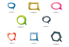 Speech Bubbles In Various Shapes And Colors Stock Image