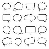 Speech bubbles for infographics Stock Image