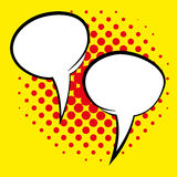 Speech Bubbles Isolated On Background Stock Photos