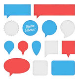 Speech Bubbles and Labels Stock Photography