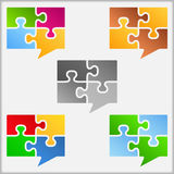 Speech Bubbles Icons Stock Image