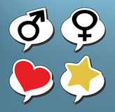 Speech bubbles male Royalty Free Stock Images