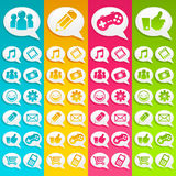 Speech Bubbles Media Icons Stock Photography