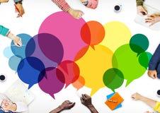 Speech Bubbles Message Concept Symbol Communication Idea Concept Royalty Free Stock Photos