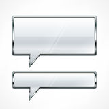 Speech bubbles metallic Stock Image
