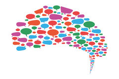 Speech Bubbles Mix. Speech bubble with many items on white background Royalty Free Stock Image