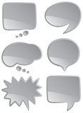 Speech bubbles mono Royalty Free Stock Photography