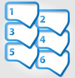 Speech bubbles with numbers. Abstract speech bubbles with numbers. Vector illustration Stock Photos