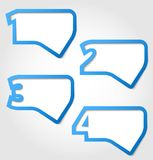 Speech bubbles with numbers Royalty Free Stock Images