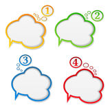 Speech bubbles with numbers Royalty Free Stock Photography