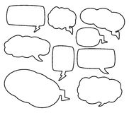 Speech bubbles outline  vector symbol icon design Royalty Free Stock Photography