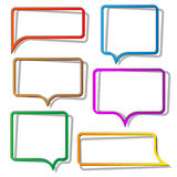 Speech bubbles from paper Stock Images