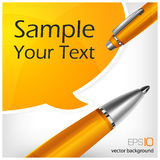 Speech bubbles & pen with text royalty free illustration