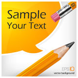 Speech bubbles & pencil with text Royalty Free Stock Images
