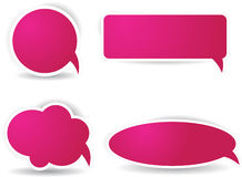 Speech bubbles in pink color Royalty Free Stock Photos