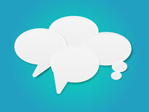 Speech bubbles with place for text Royalty Free Stock Photography