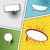 Speech Bubbles in Pop-Art Style Stock Images