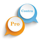 2 Speech Bubbles Pro Contra Royalty Free Stock Photos