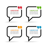 Speech bubbles. With quote marks Stock Image