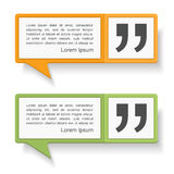Speech Bubbles with Quotes Royalty Free Stock Photo