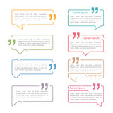 Speech Bubbles with Quotes. Set of speech bubbles with quotes vector illustration